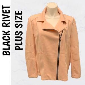 🆕 Plus Size: NWT Black Rivet Pink Jacket